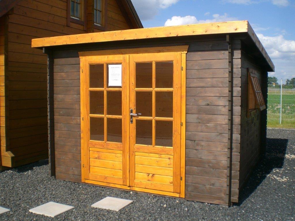 gartenhaus ankona 3 00 x 3 50m mit boden flachdach. Black Bedroom Furniture Sets. Home Design Ideas