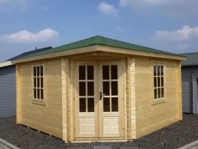 5-Eck.-Haus LEON - 4,0 x 4,0m Gartenhaus mit Boden