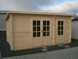 Gartenhaus VERONA - 5,00 x 3,00m mit Boden, Flachdach