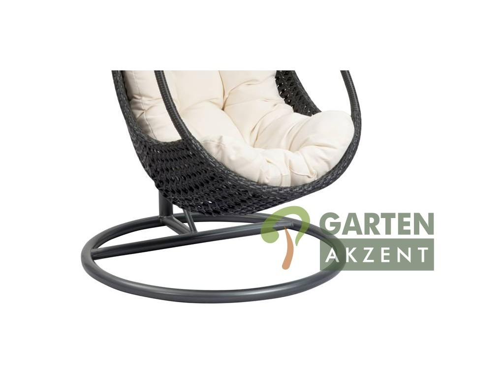 funny h ngesessel polyrattan in schwarz garten akzent. Black Bedroom Furniture Sets. Home Design Ideas