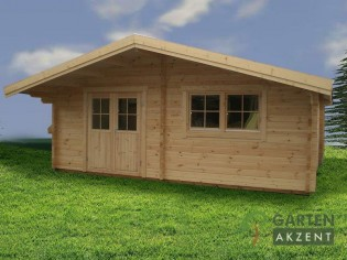 Gartenhaus GRANDO - 6,0 x 6,0m mit 3 Räumen