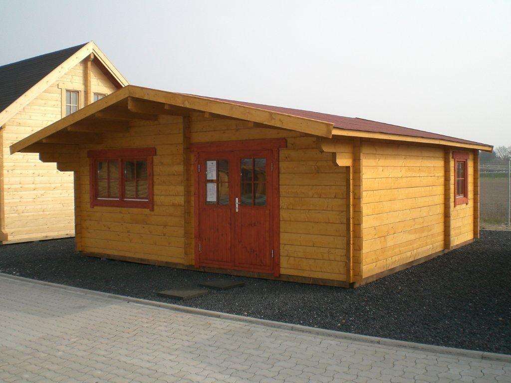 gartenhaus grando - 6,0 x 6,0m mit 3 räumen - garten akzent