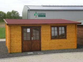 Gartenhaus FLORENZ - 5,73 x 3,18m mit Boden, Flachdach