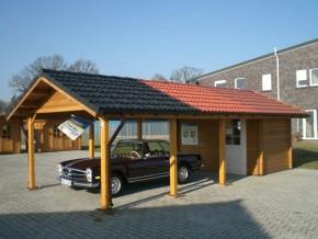 Gartenhaus Carport ANNA-I - 7,8 x 3,5m mit Boden