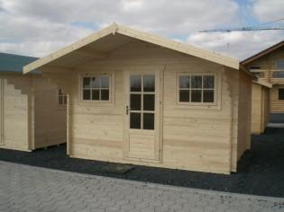 Gartenhaus EMILY 3,80x3,00m +1,2m Vordach mit 28mm - Fußboden