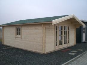 Gartenhaus RONDO 55 - 5,0 x 5,0m mit Fussboden-Paket