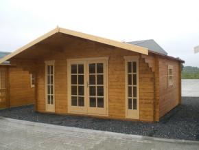 Gartenhaus DIVA 5,00 x 4,50m mit 28mm Fussboden