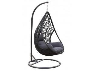mona h ngeschaukel h ngesessel korbschaukel schaukelsessel polyrattan in schwarz inkl. Black Bedroom Furniture Sets. Home Design Ideas