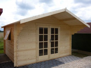 Gartenhaus RUBI - 3,8 x 3,0m mit Fußboden
