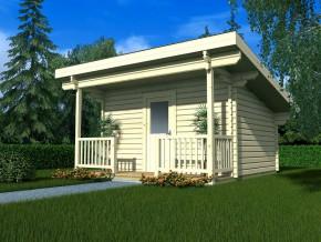 Wochenendhaus Ferienhaus Blockhaus 11m² mit lasierten Fenstern und Türen im Wunschfarbton