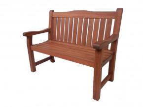 Bank 2-Sitzer SIESTA ca. 1200x950x620 mm aus 100% MTCS* zertifiziertem Meranti-Holz RL3030