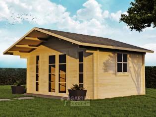 Gartenhaus LOHNE-1 - 5,00 x 3,50m mit Fußboden und Doppel-Isolierverglasung