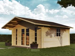 Gartenhaus LOHNE-2 - 5,00 x 4,70m mit Fußboden und