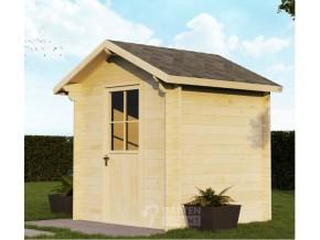 Gartenhaus 44mm WILSUM 2,2 x 2,0m mit Fußboden, Doppel-, Isolierverglasung