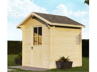 44mm Gartenhaus WILSUM 2,2 x 2,0m mit Boden und Isolierverglasung