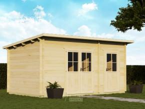 Gartenhaus VERONA-M10 5,00 x 3,00m mit 2 Räumen inkl. Fußboden und Isolierverglasung