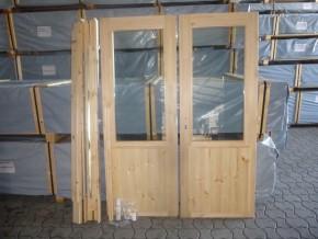 Tür Doppeltür m. Isolierglas Gummidichtung 1500x2000mm
