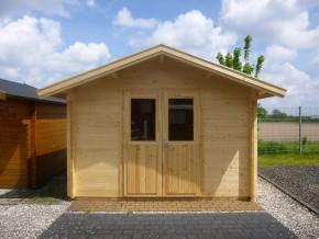 Gartenhaus VIOLA 3,5 x 3,5m mit Fußboden und Doppel-, Isolierverglasung
