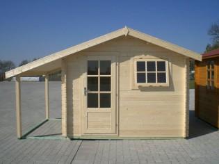 Gartenhaus BRUNO - 3,00 x 2,60m plus 1,20x2,60m Schleppdach und Boden