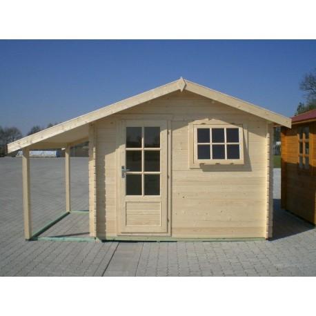 gartenhaus rimini 3 00 x 3 50m mit schleppdach und boden garten akzent. Black Bedroom Furniture Sets. Home Design Ideas