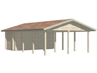 Gartenhaus Carport ANNA-II - 7,80 x 5,70m mit Boden