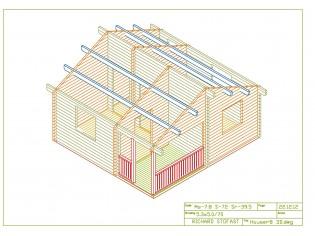 Wochenendhaus, Ferienhaus, Blockhaus mit 3 Räumen und Terrasse IMATRA