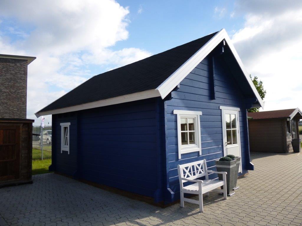 wochenendhaus ferienhaus blockhaus mit 2 r umen und. Black Bedroom Furniture Sets. Home Design Ideas