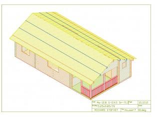 Wochenendhaus, Ferienhaus, Blockhaus mit 5 Räumen und Terrasse MIKKELI
