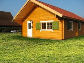 Wochenendhaus, Ferienhaus, Blockhaus MAXIMA 70mm-Wandstärke mit 4 Räumen