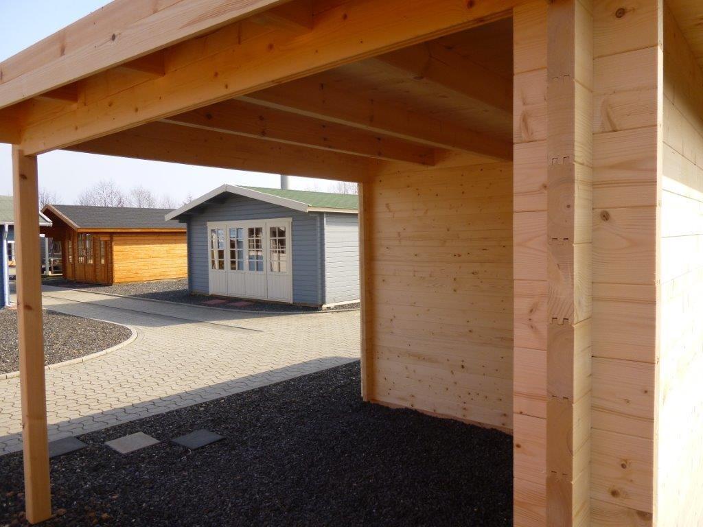 Gartenhaus KÖLN 4,0 x 3,0m + 3m Terrasse, mit Boden   Garten Akzent