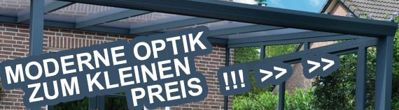 Das Terrassendach aus Aluminium – moderne Optik zum kleinen Preis