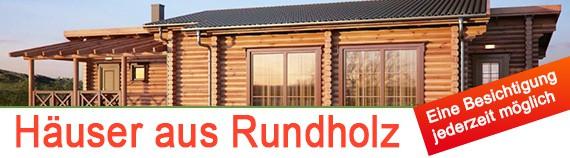 Häuser aus Rundholz, Rundholzbalken, Naturstammbohlen