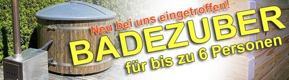 Badezuber Badebottich Hot Tub mit externem Ofen, PE-Kunststoff Einsatz und Abdeckung in grau