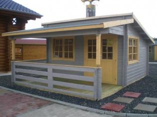 Gartenhaus GLORIA - 4,18 x 3,48m + 2m-Terrasse und Boden