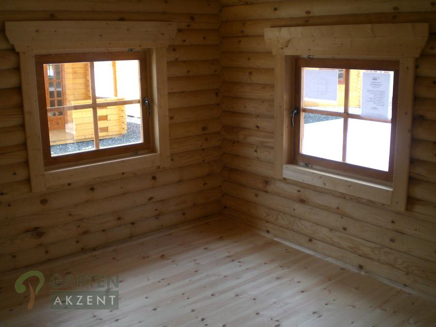 garten akzent blockh tten aus rundholz und l rche. Black Bedroom Furniture Sets. Home Design Ideas